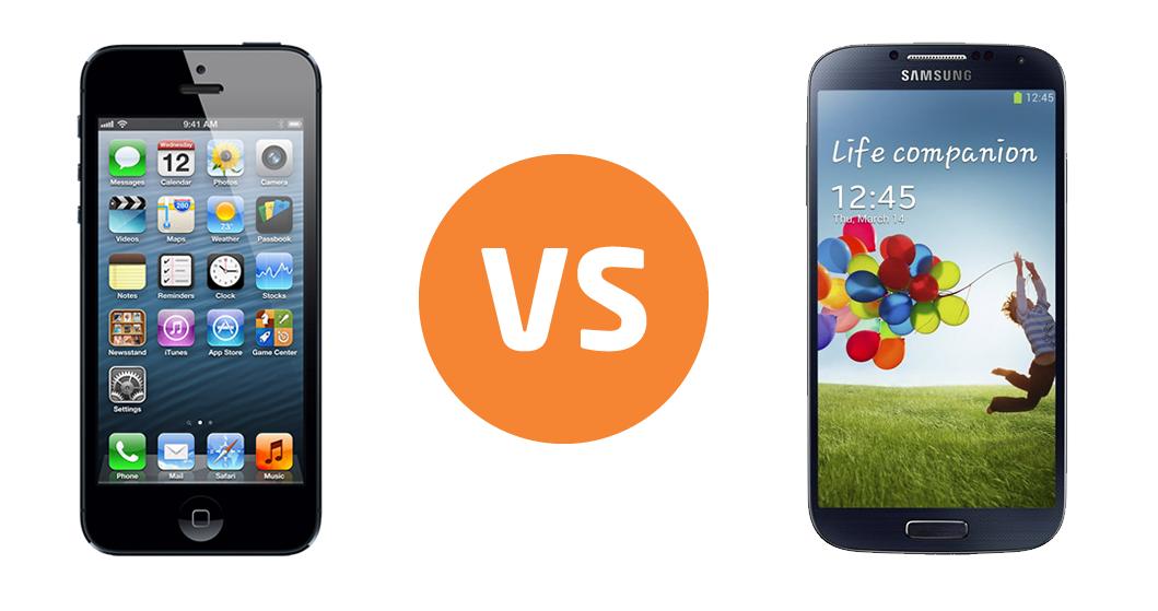 Galaxy S4 VS Iphone5